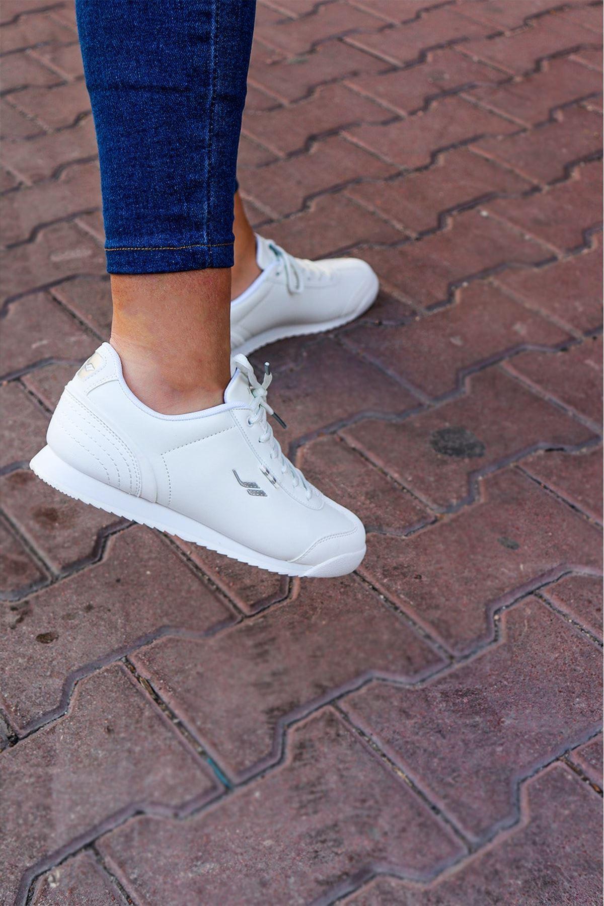 LESCON - WİNNER-3 Beyaz Kadın Spor Ayakkabı