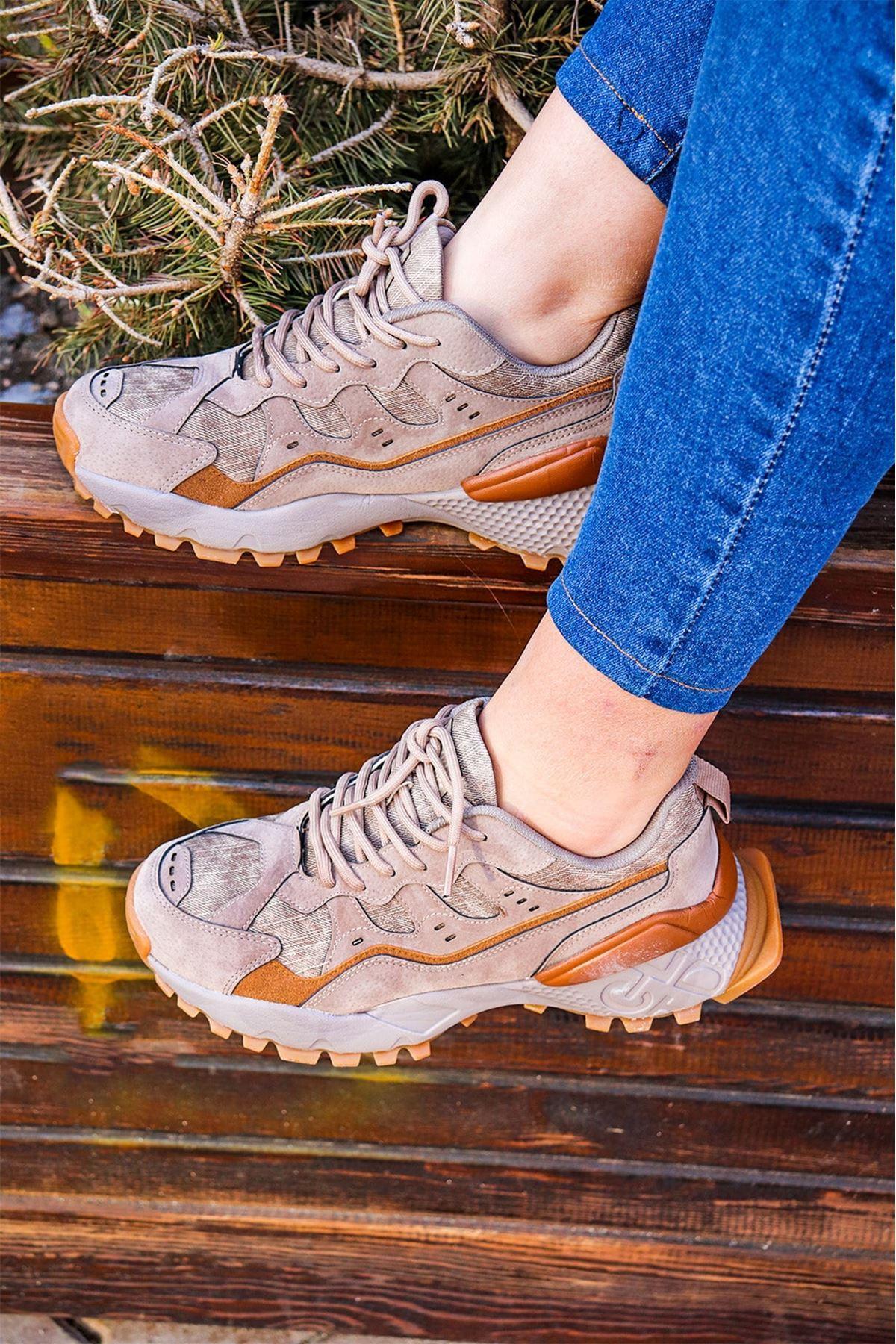 Jump - Bej Kadın Spor Ayakkabısı