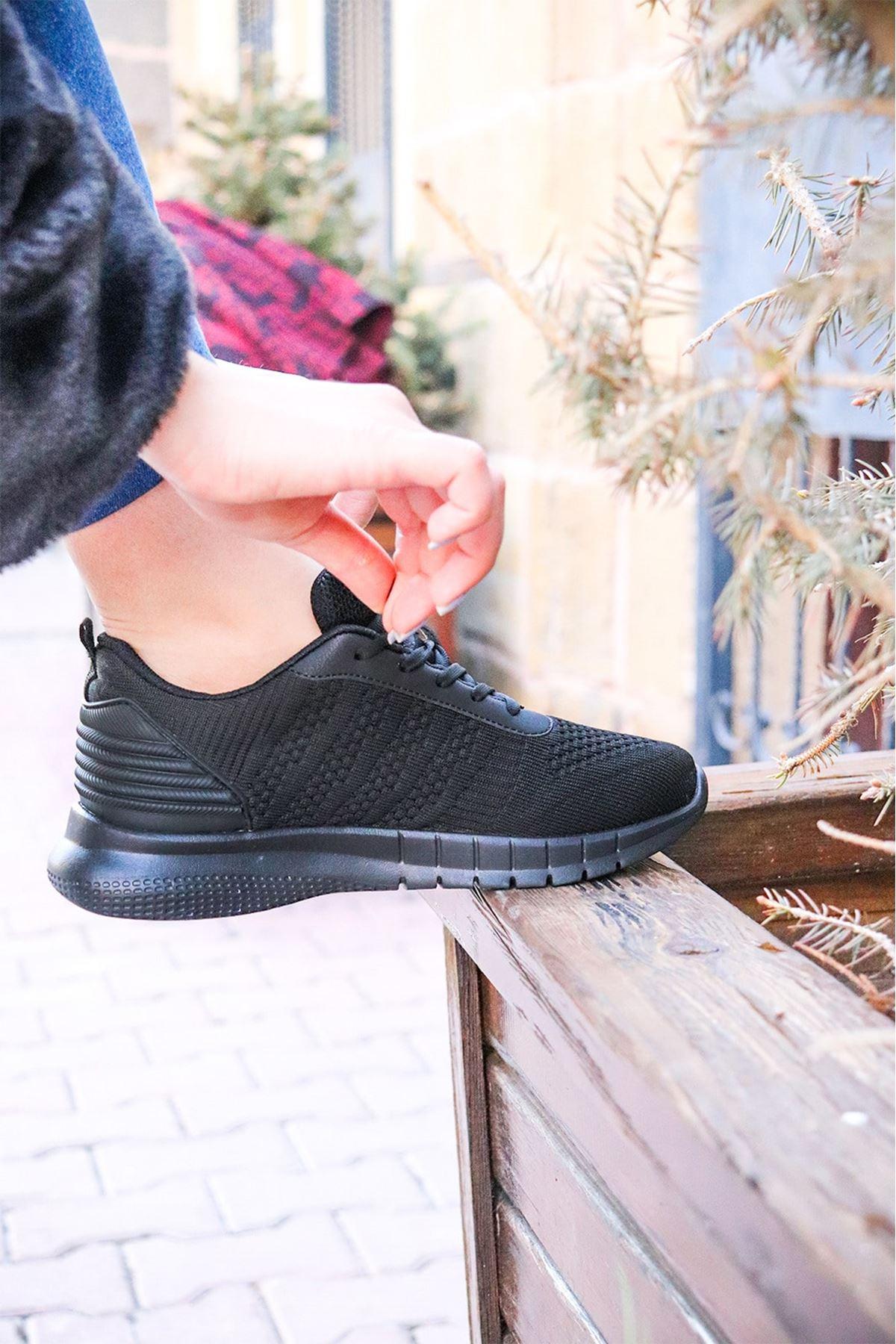 MP - 2117401ZN Siyah Kadın Spor Ayakkabı
