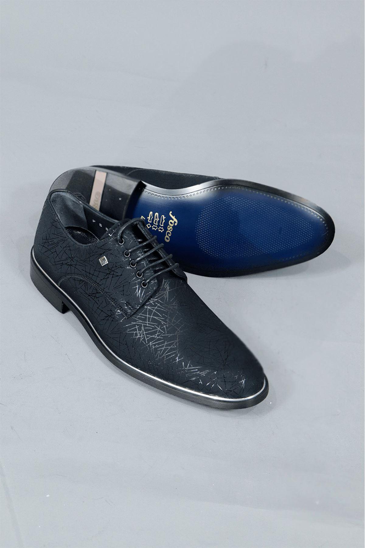 Fosco - 8003 Mr Klasik Neolit Süet Desenli Ayakkabı