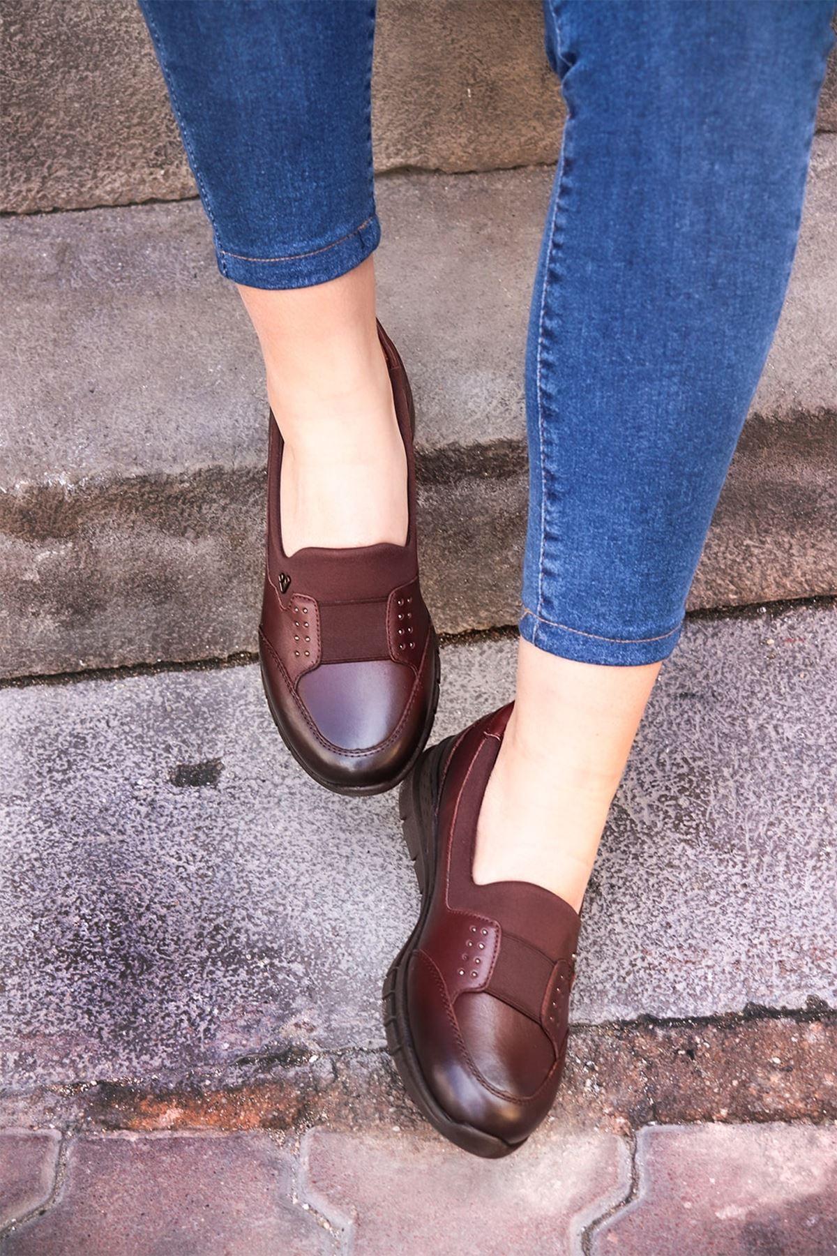 Forelli - 29442 Kahve Ortopedik Kadın Ayakkabısı