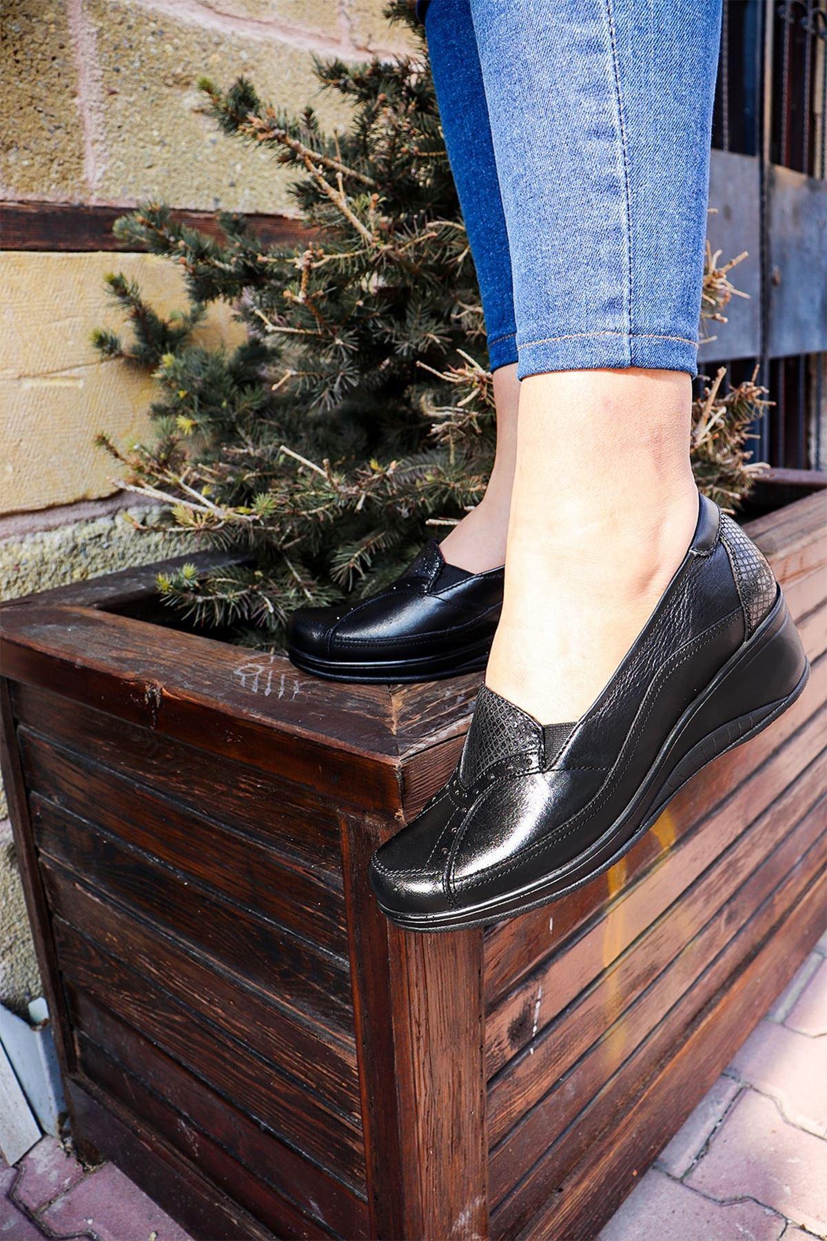 Forelli - 57603 Siyah Kadın Ayakkabısı