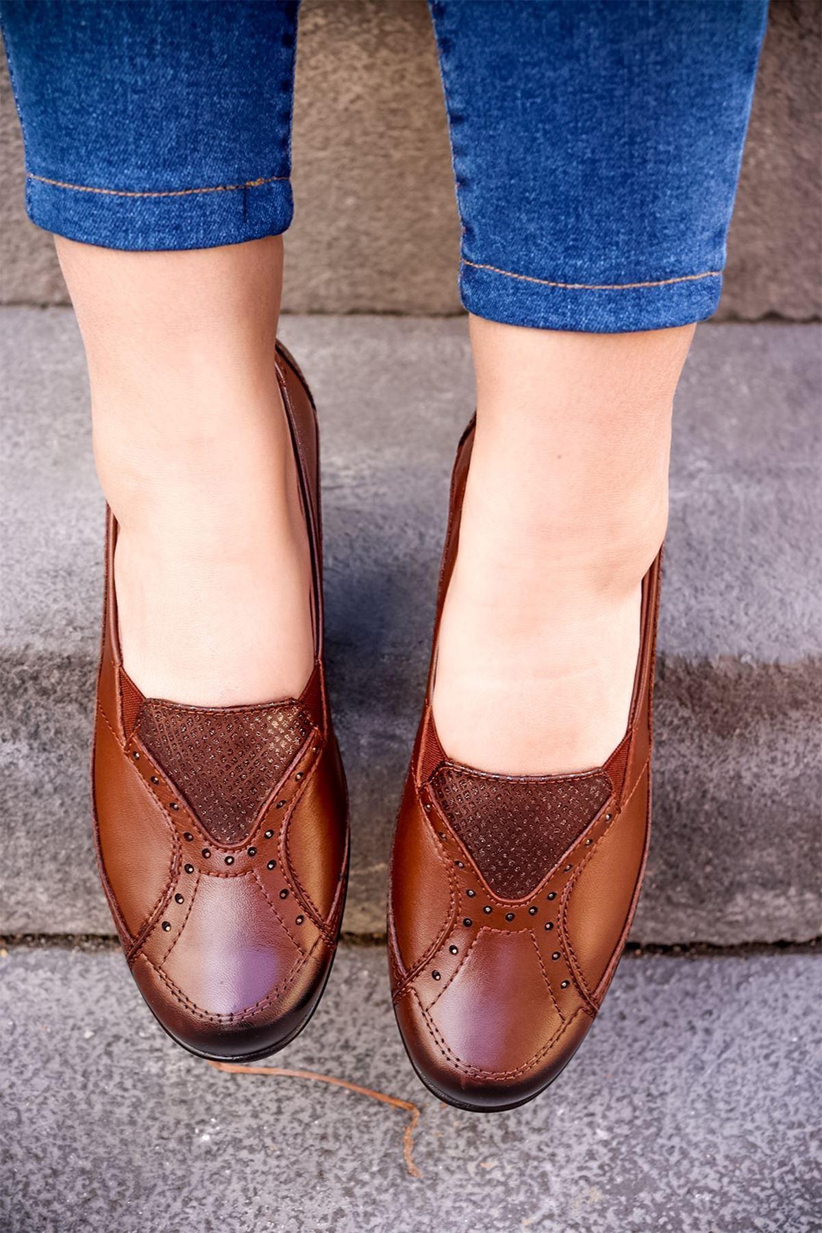 Forelli - 57603 Taba Kadın Ayakkabısı