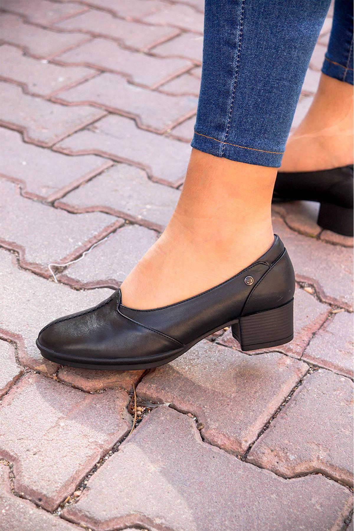 Forelli - 57202 Siyah Topuklu Kadın Ayakkabısı