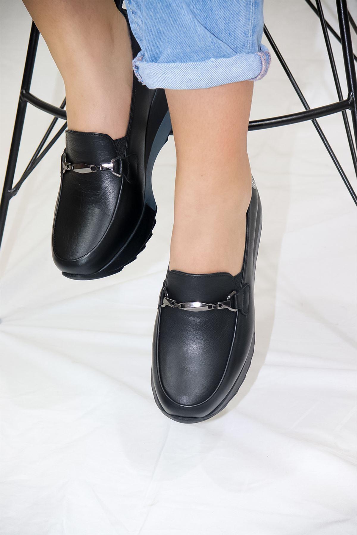 Mammamia - D21YA - 3215-B Siyah Kadın Ayakkabısı