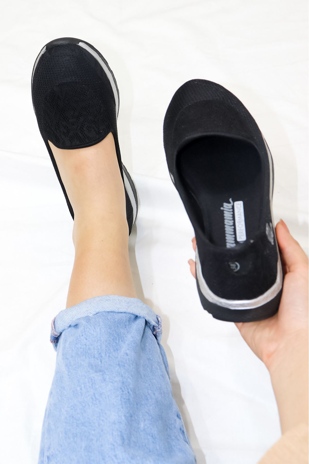 Mammamia - D21YA - 680-B Siyah Kadın Ayakkabısı
