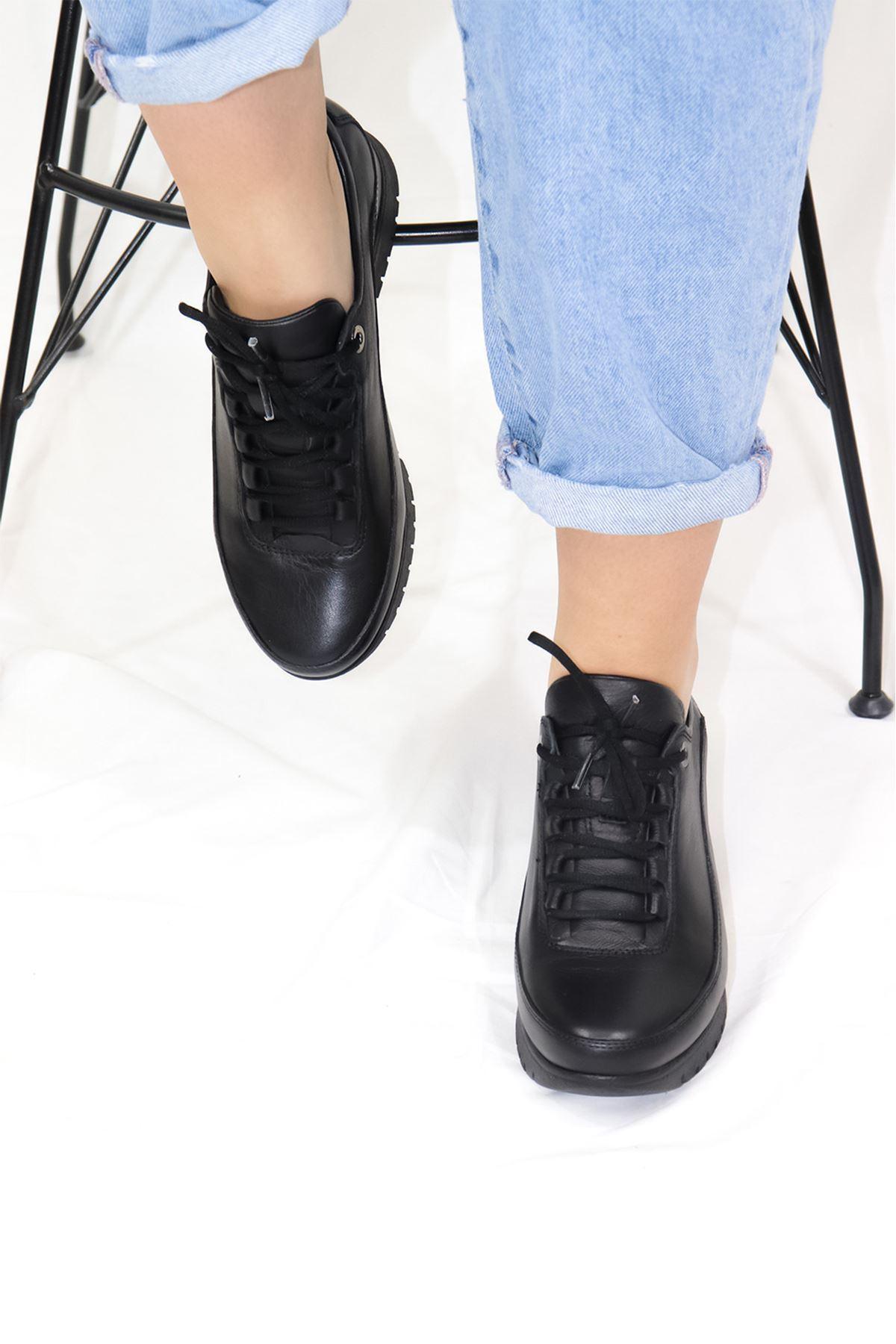 Mammamia - D21YA - 3255-B Siyah Kadın Ayakkabısı