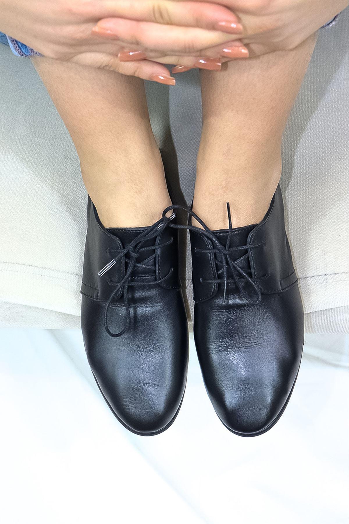 Mammamia - D21YA - 965-B Siyah Casual Kadın Ayakkabısı