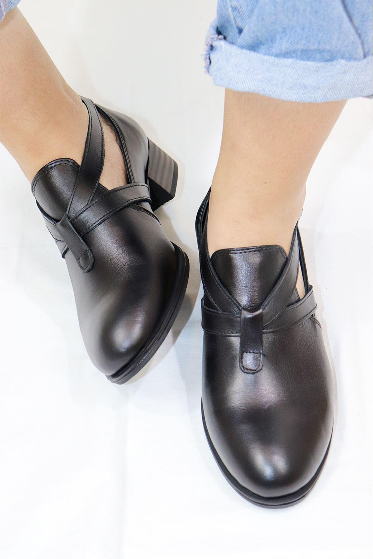 Mammamia - D21YA - 90-B Siyah Kadın Ayakkabı