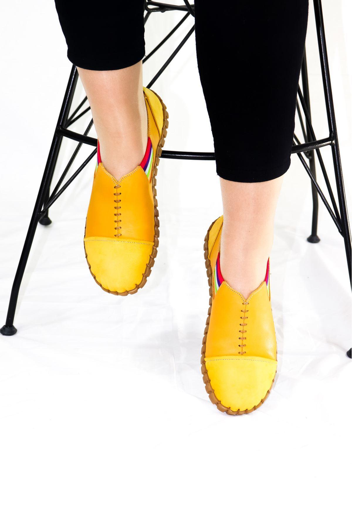 Venüs - 20107034 Sarı Lastikli Kadın Ayakkabısı