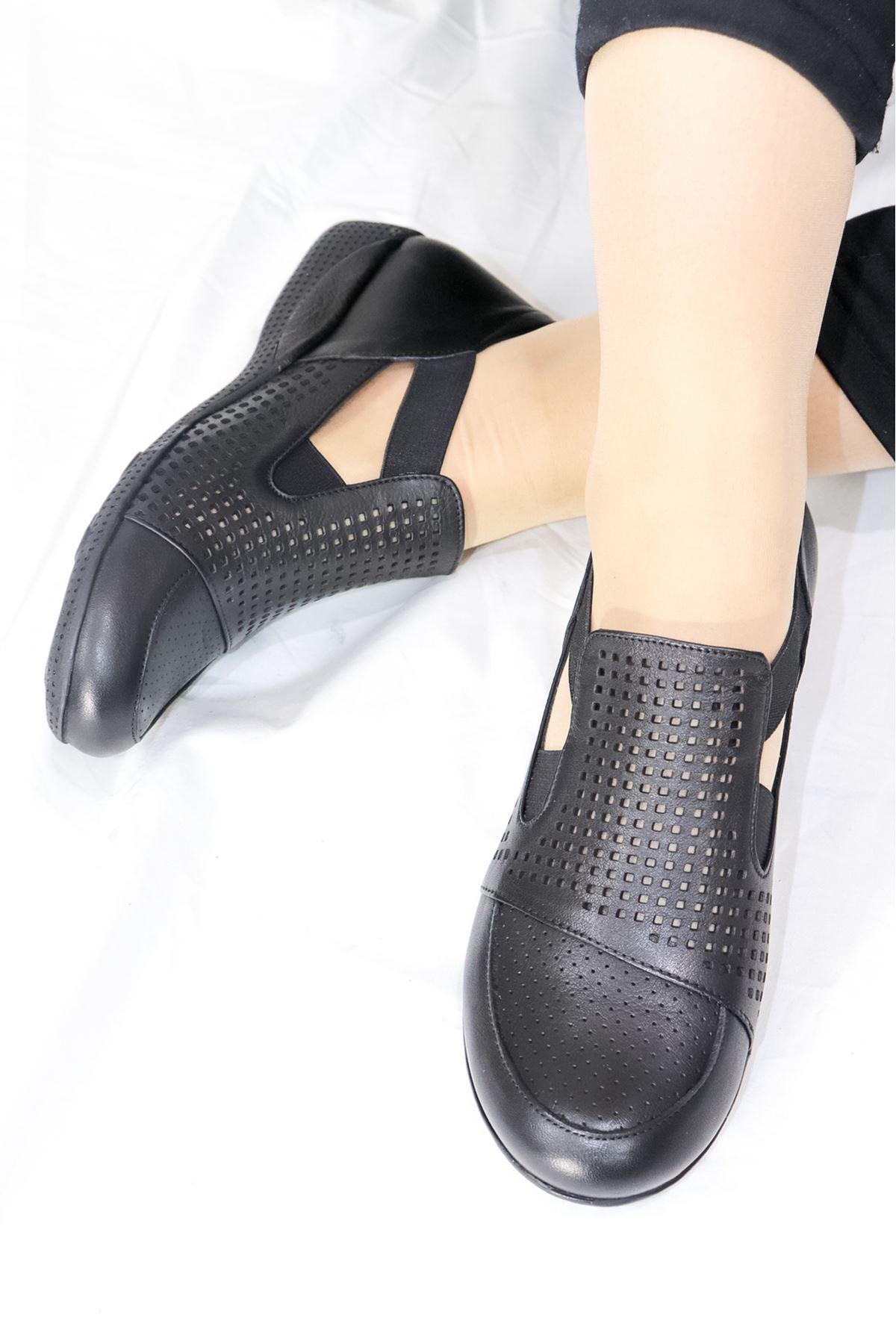 Mammamia - D21YA - 3055-B Siyah Kadın Ayakkabısı