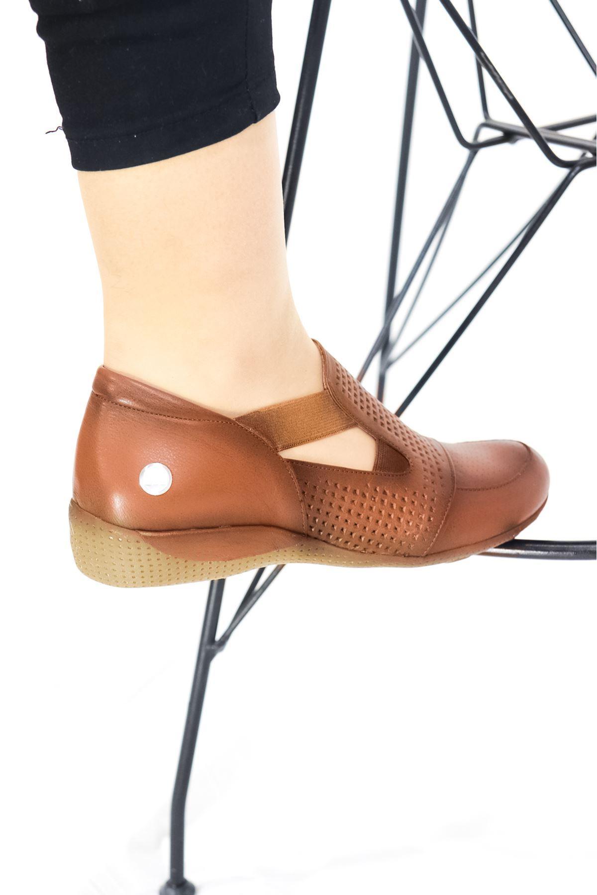 Mammamia - D21YA - 3055-B Taba Kadın Ayakkabısı