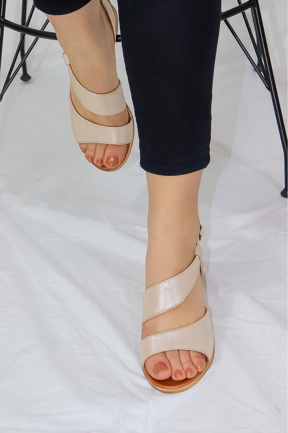 Mammamia - D21YS - 1130-B Dore Simli Kadın Ayakkabısı