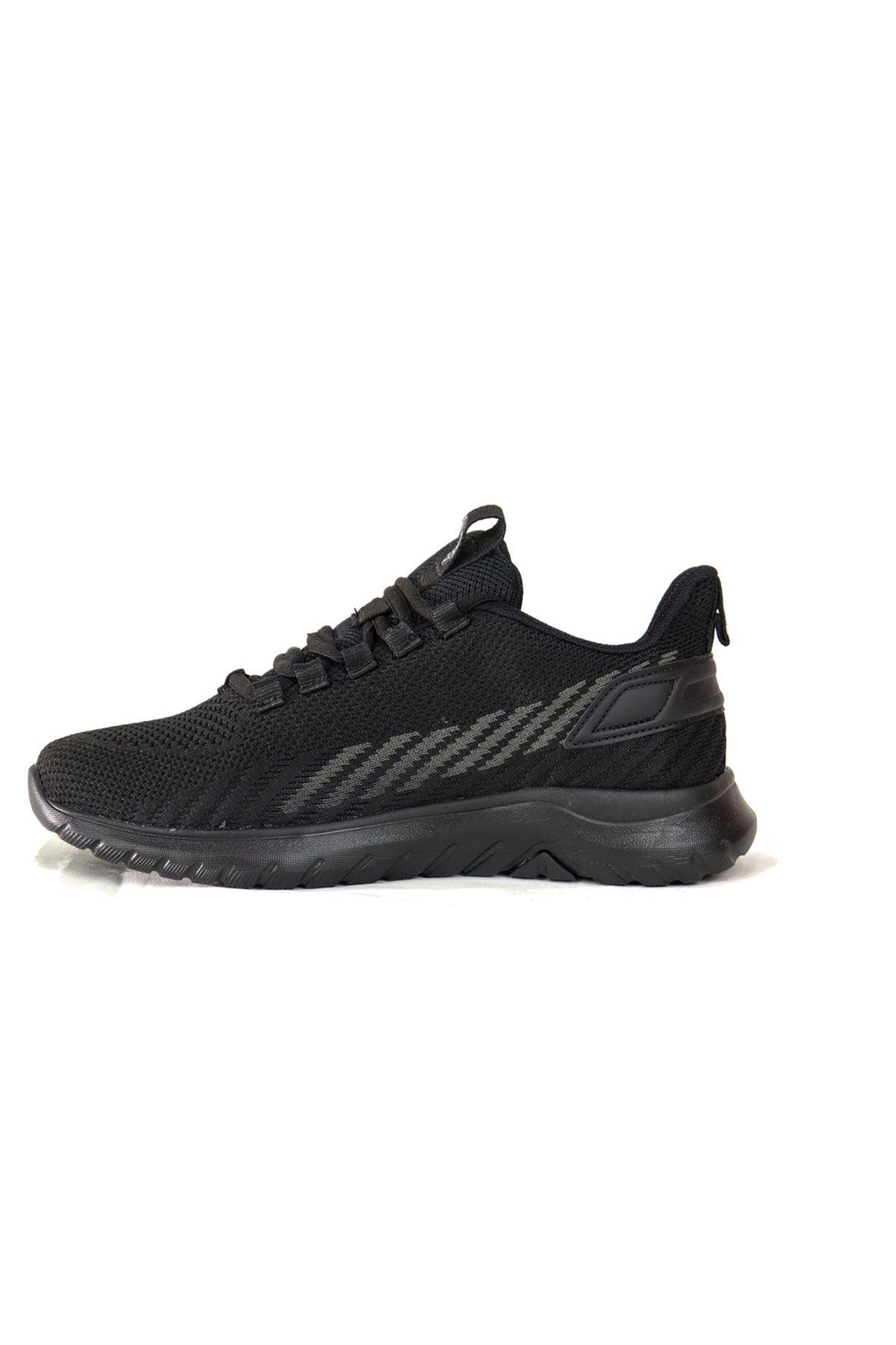 Jump - 26441 - Siyaha Siyah Kadın Spor Ayakkabısı