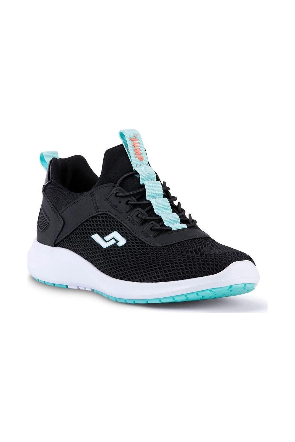 Jump - 24816 Siyah Yeşil Detaylı Kadın Spor Ayakkabısı
