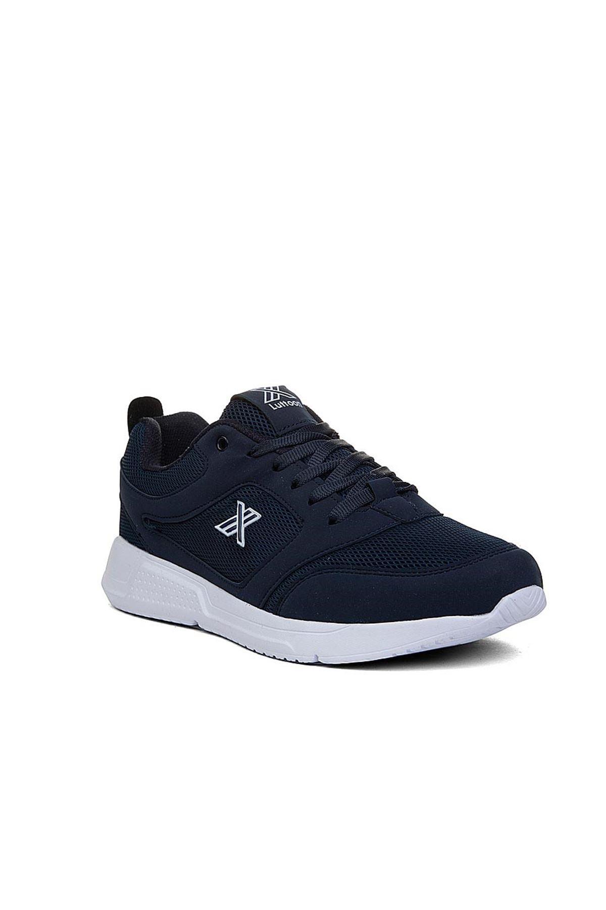 Trendayakkabı - 203 - Lacivert beyaz Kadın Spor Ayakkabısı