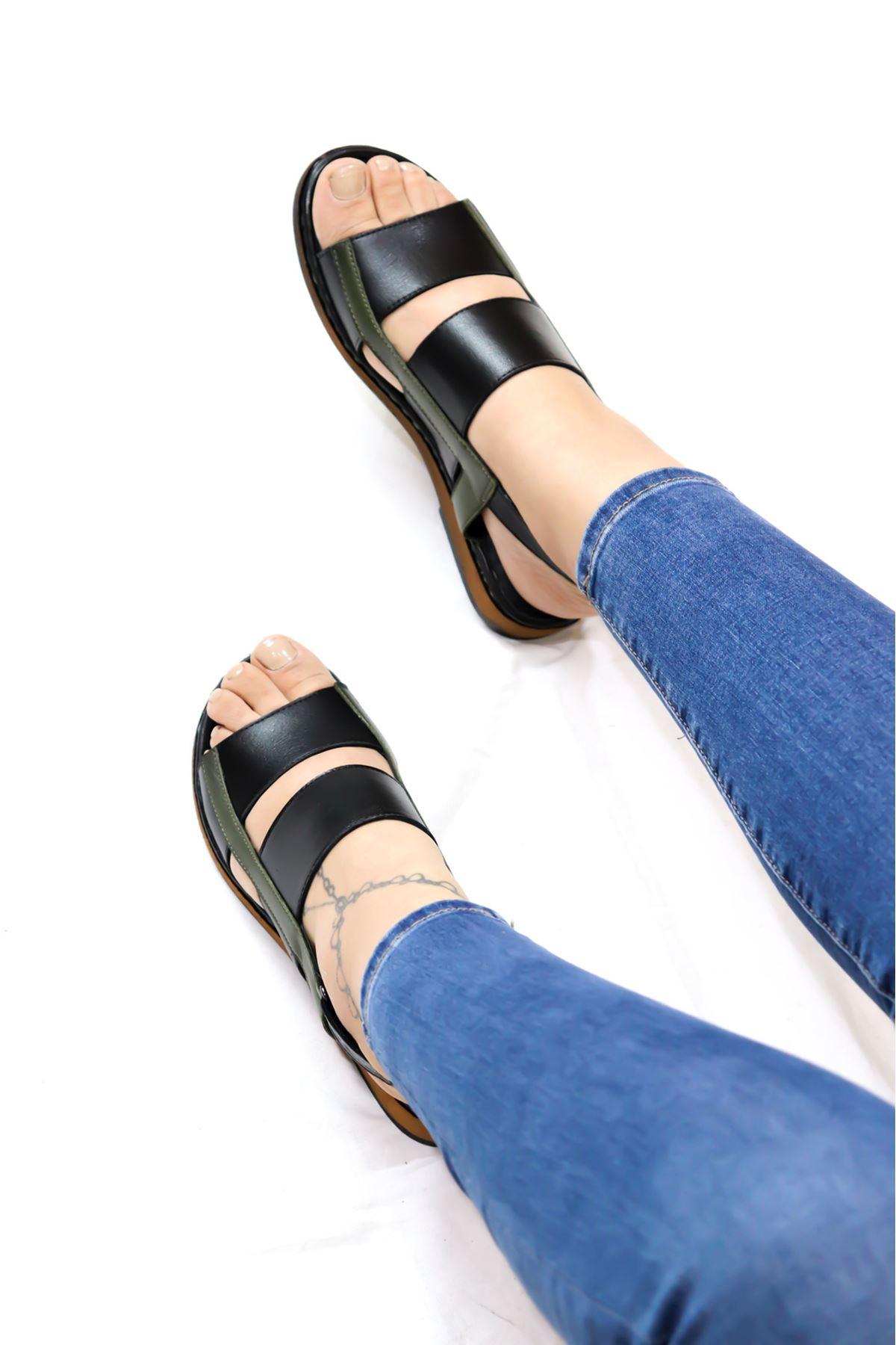 Venüs - 2198121 Siyah Kadın Sandalet