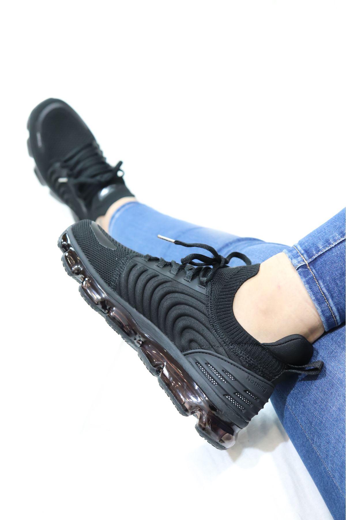 Lescon - Airtube Pegasus 2 Siyah Kadın Spor Ayakkabı
