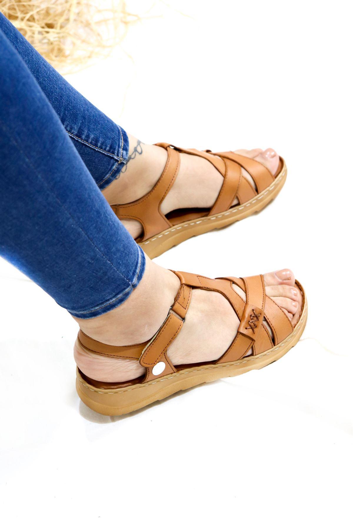 Mammamia - D21YS -1145-B Taba Kadın Sandalet