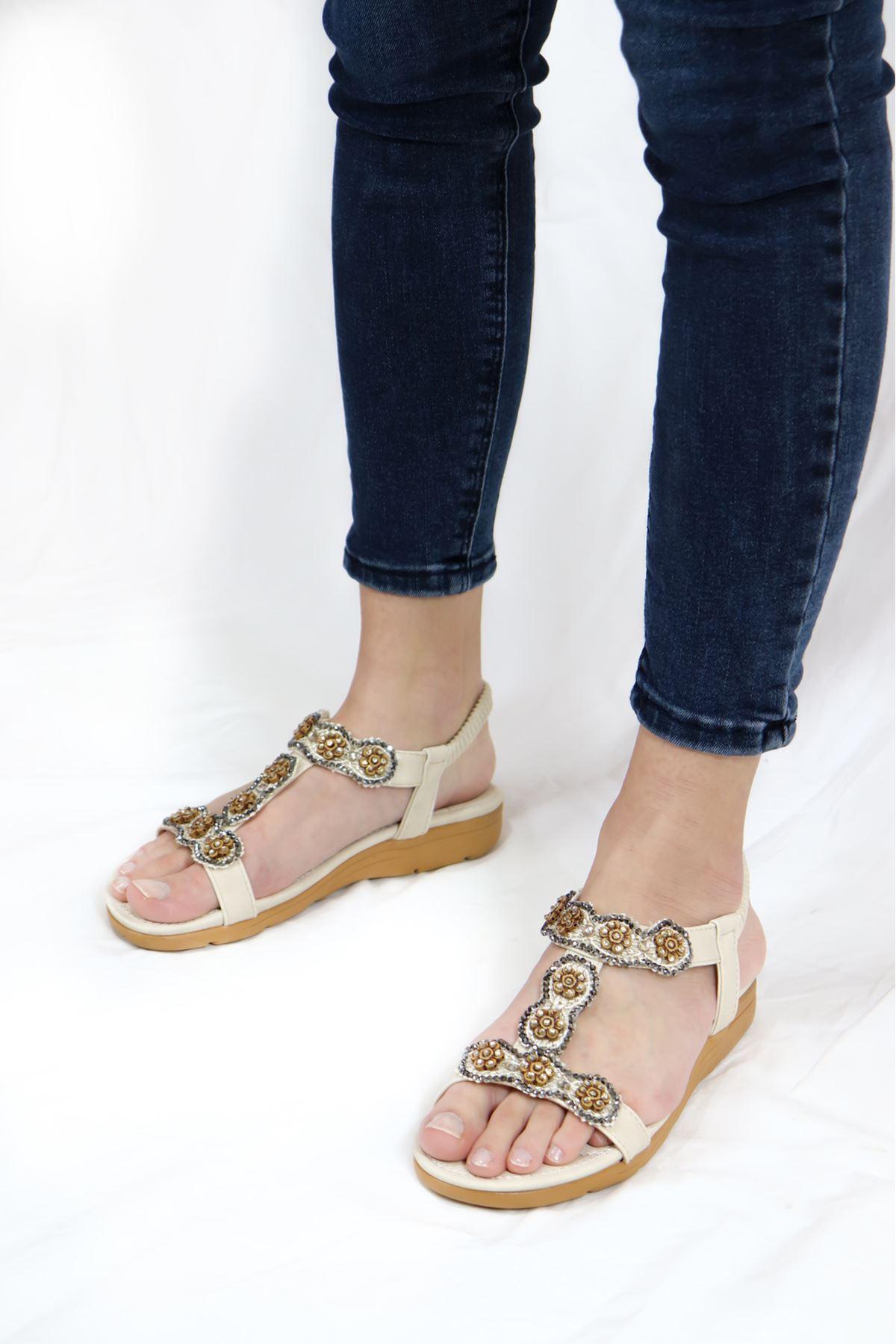 Guja - 21Y250-32 Bej Kadın Sandalet