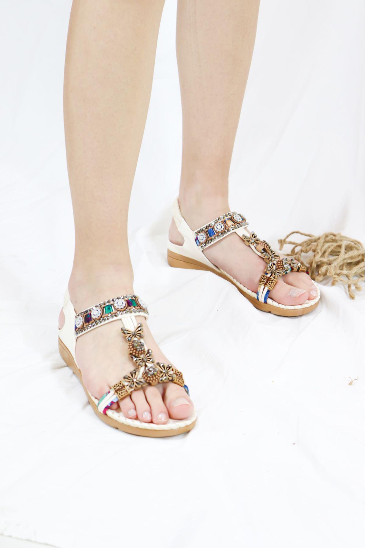Guja - 21Y250-03 Beyaz Kadın Sandalet