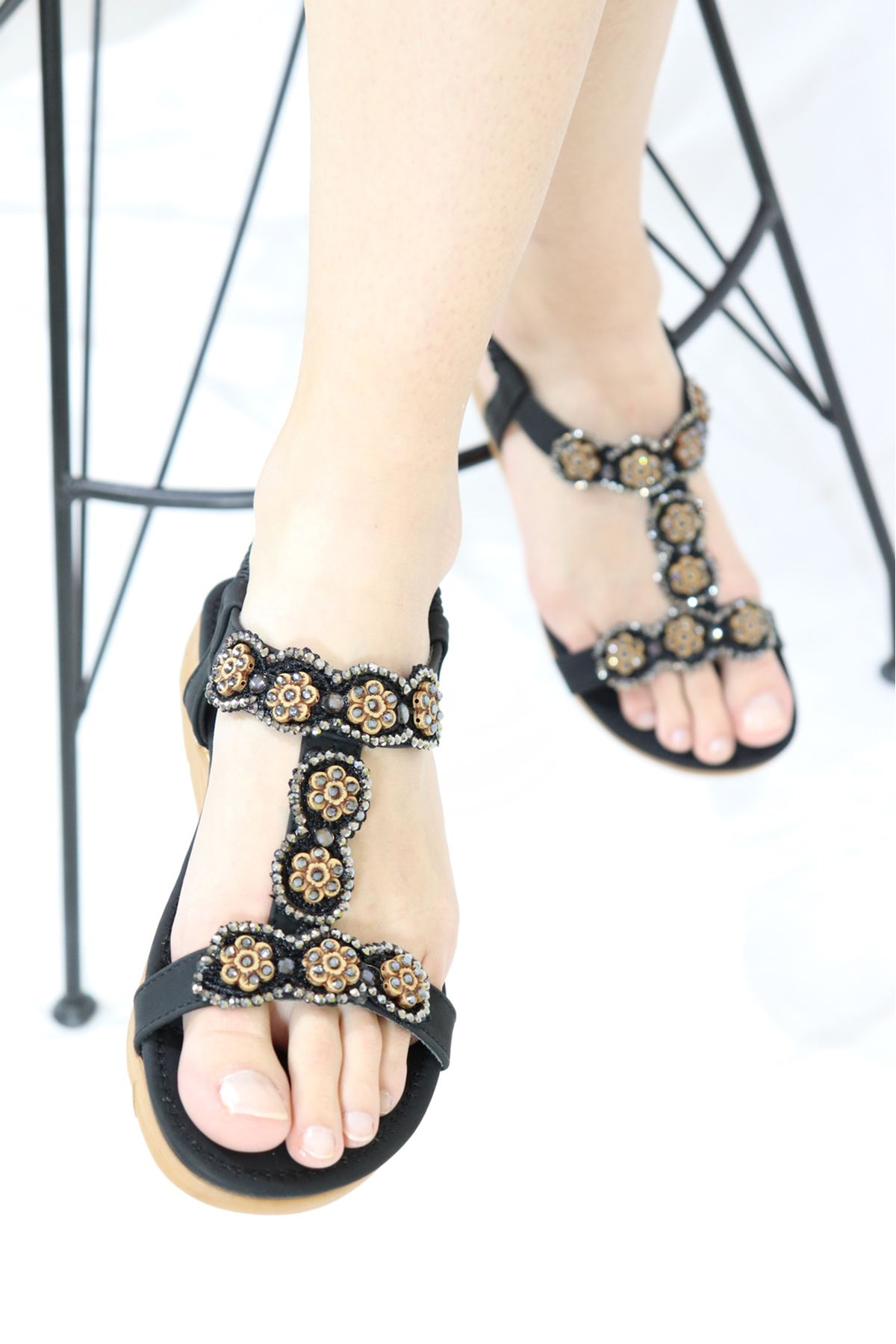 Guja - 21Y250-32 Siyah Kadın Sandalet