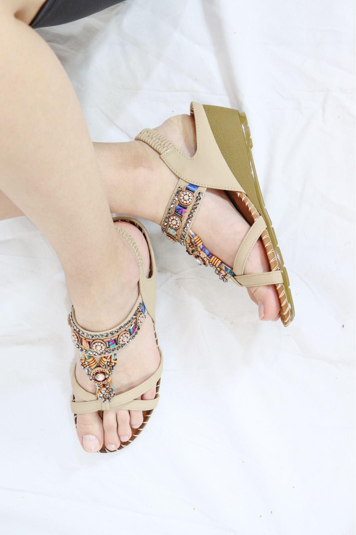Guja - 21Y151-10 Bej Kadın Sandalet