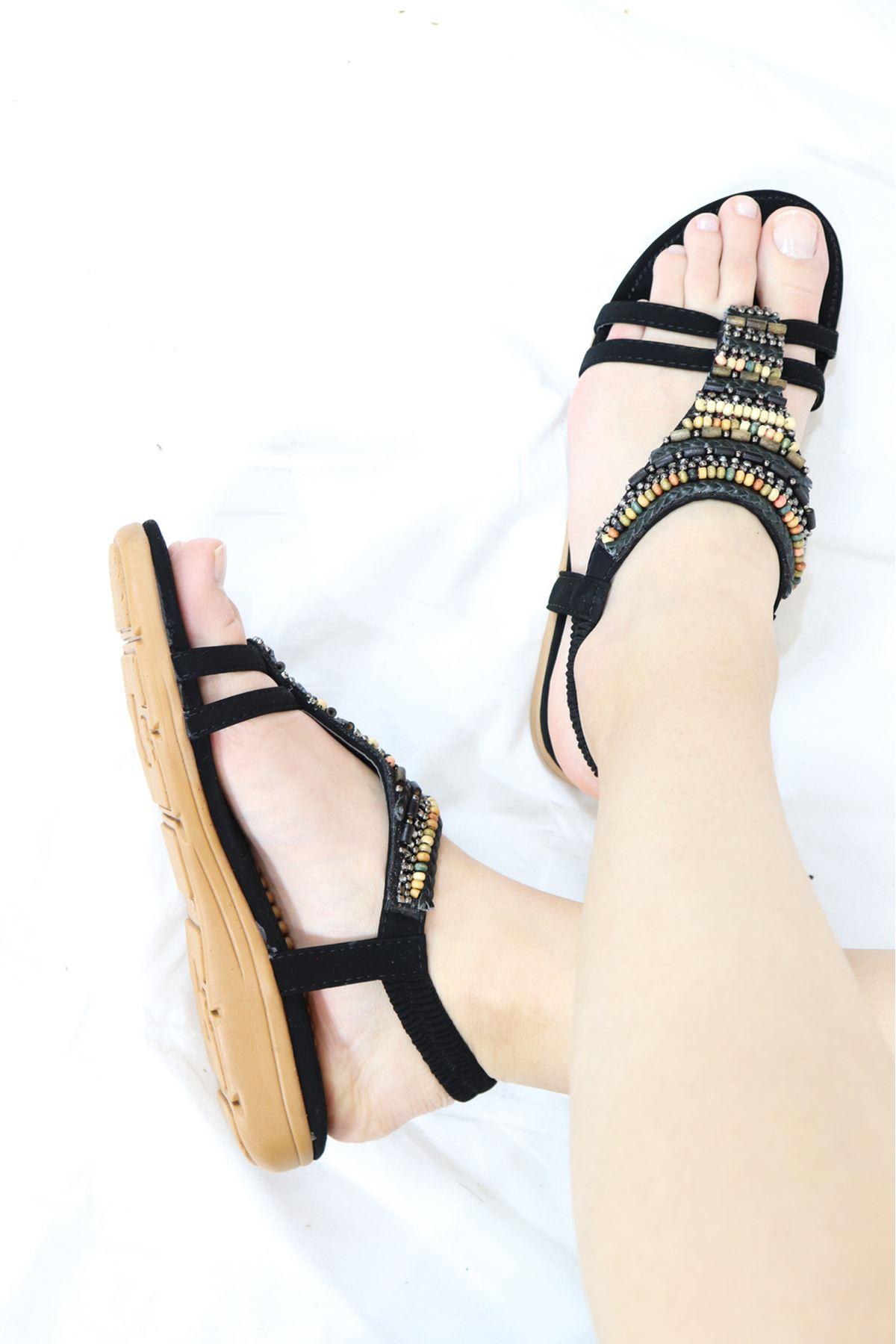 Guja - 21Y120-22 Siyah Kadın Sandalet