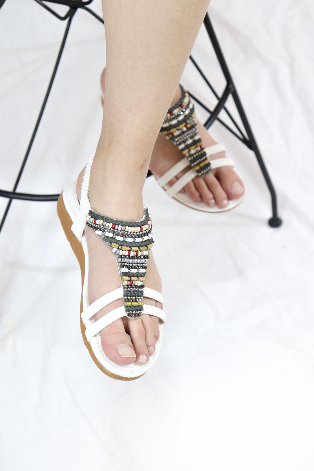Guja - 21Y120-22 Beyaz Kadın Sandalet