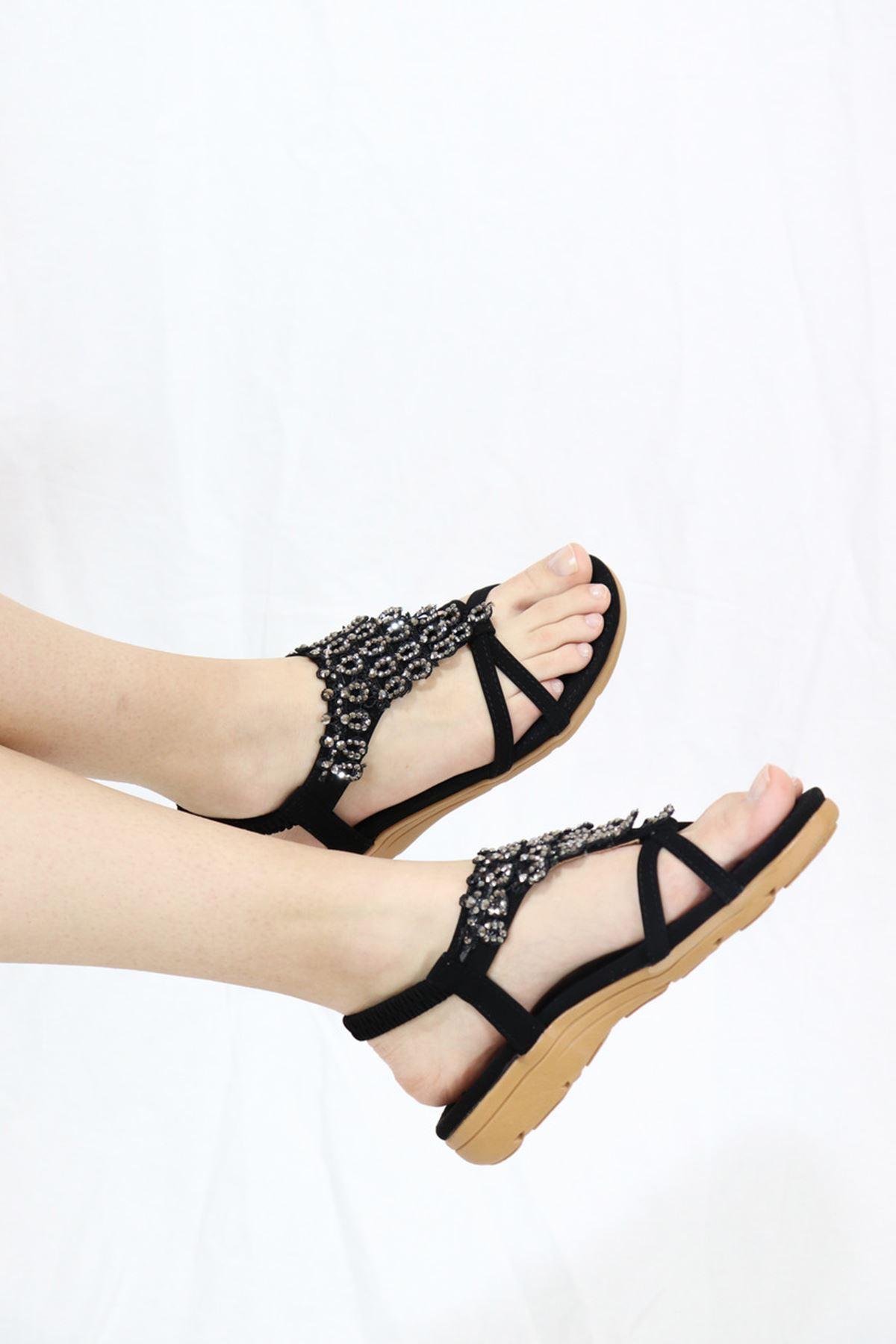 Guja - 21Y120-02 Siyah Kadın Sandalet