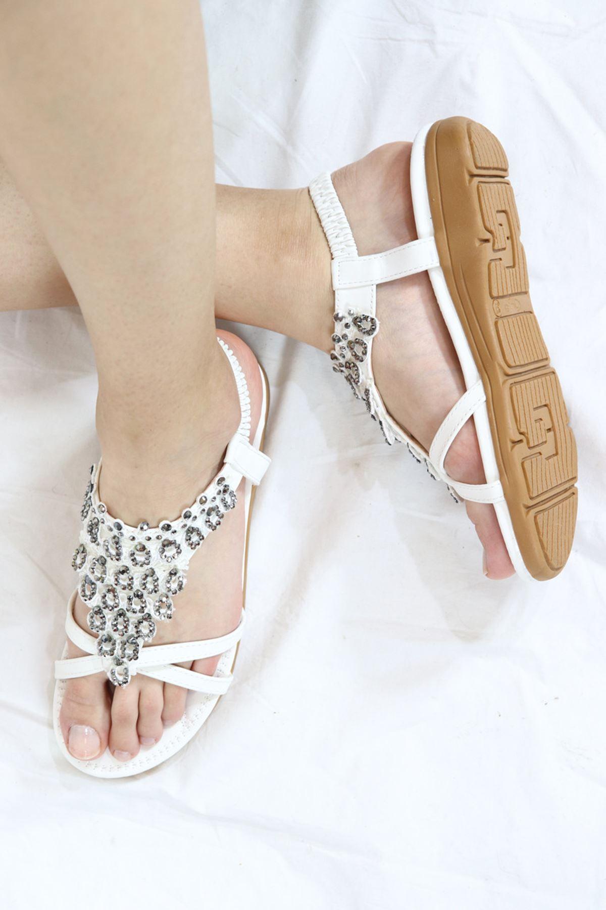 Guja - 21Y120-02 Beyaz Kadın Sandalet