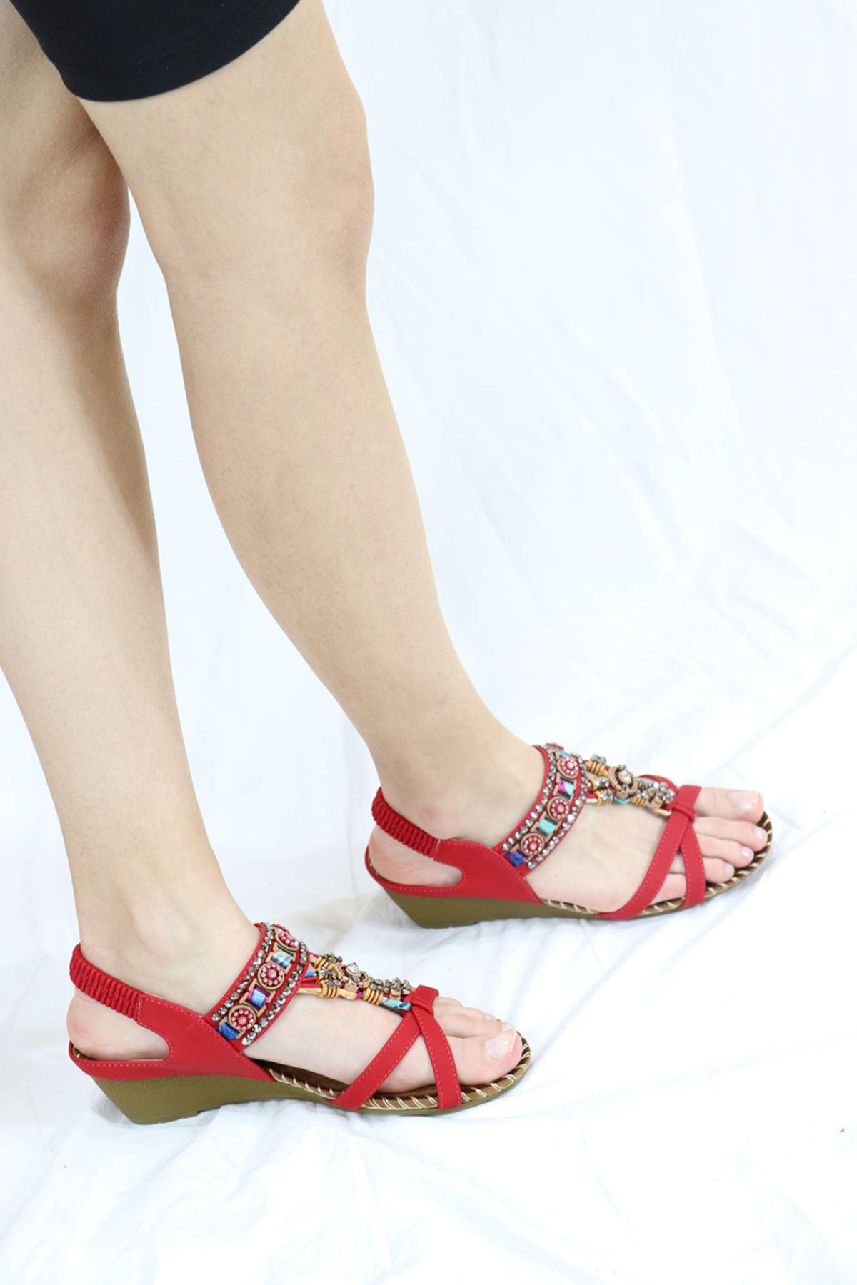 Guja - 21Y151-10 Kırmızı Kadın Sandalet