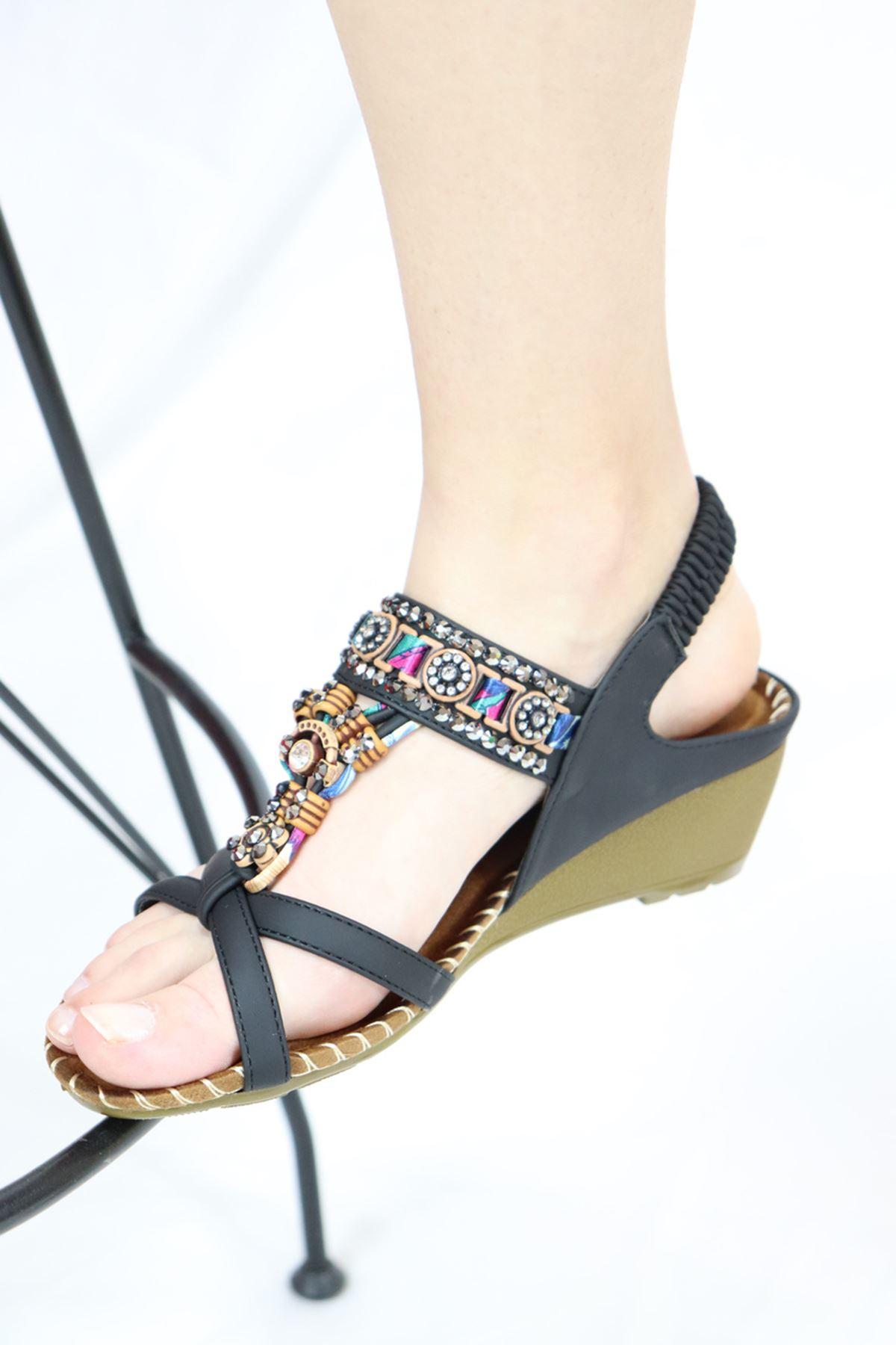 Guja - 21Y151-10 Siyah Kadın Sandalet