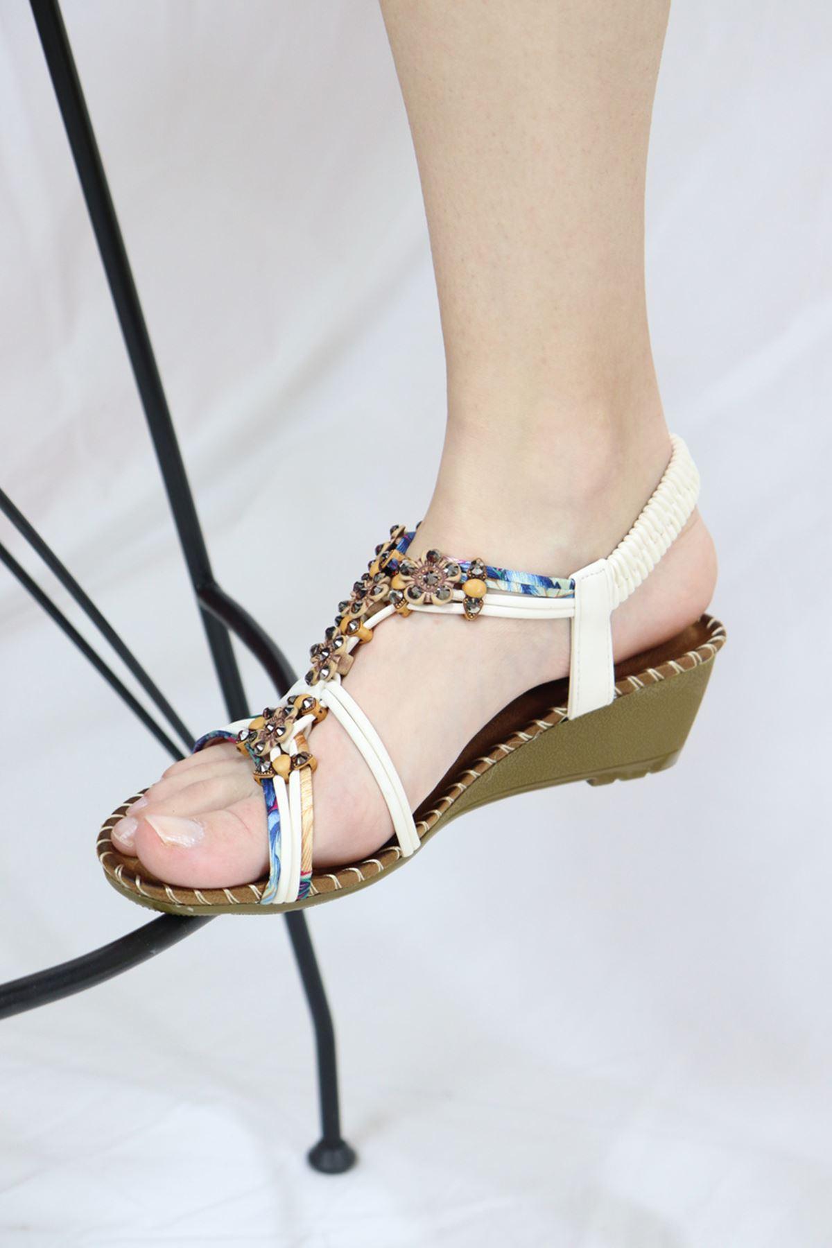 Guja - 21Y151-15 Beyaz Kadın Sandalet