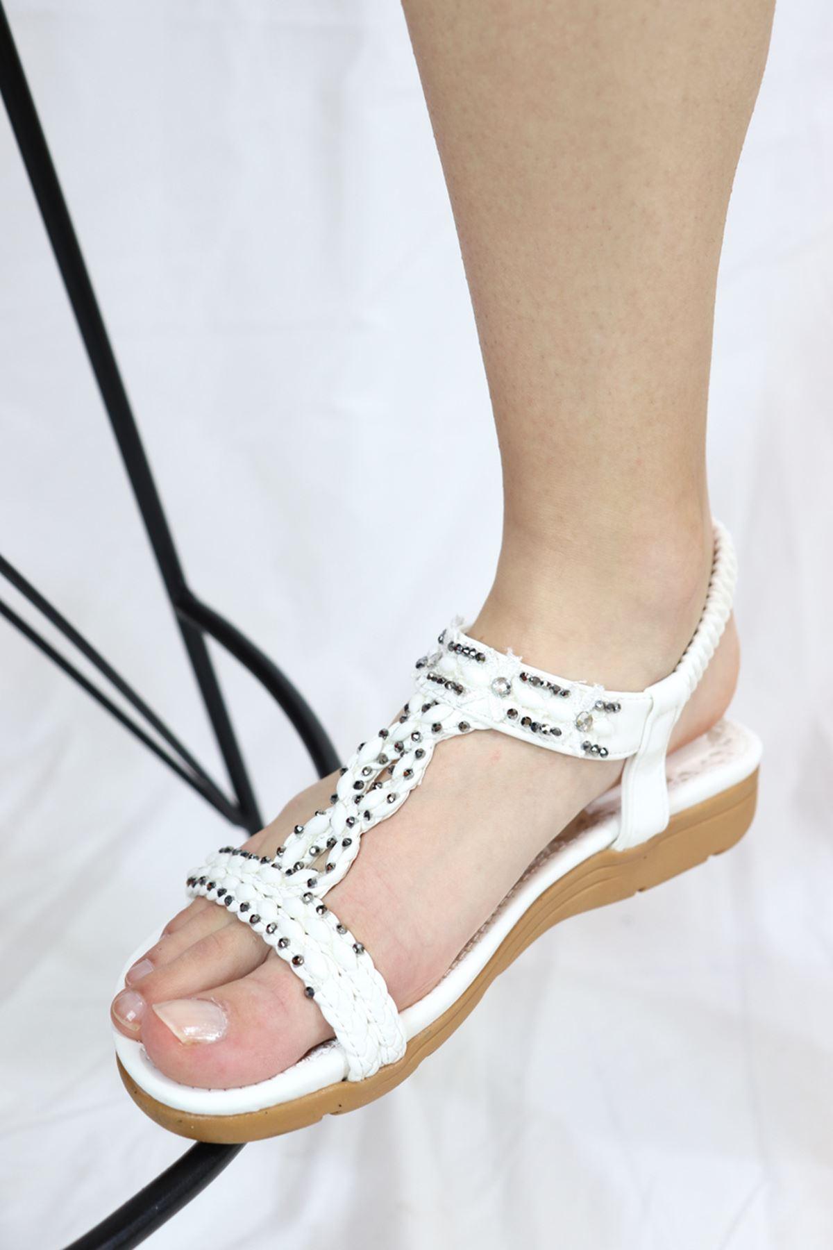 Guja - 21Y151-1 Beyaz Kadın Sandalet
