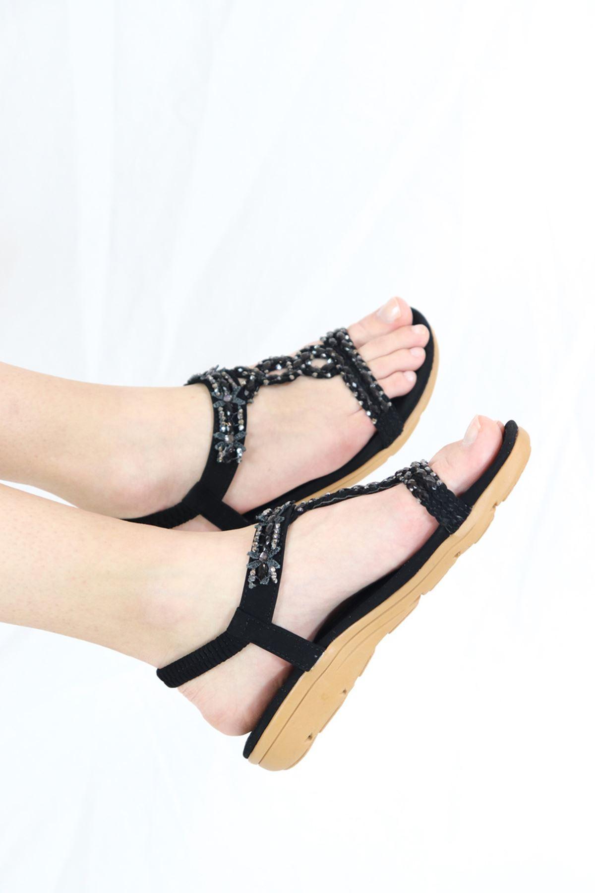 Guja - 21Y151-1 Siyah Kadın Sandalet