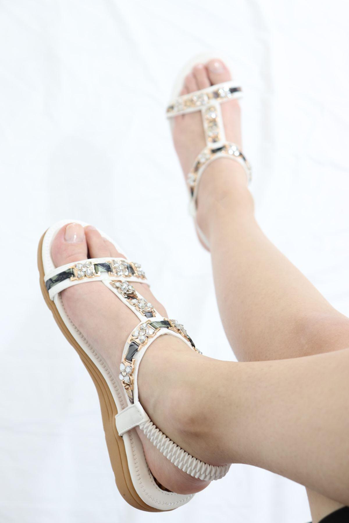 Guja - 21Y120-21 Beyaz Kadın Sandalet