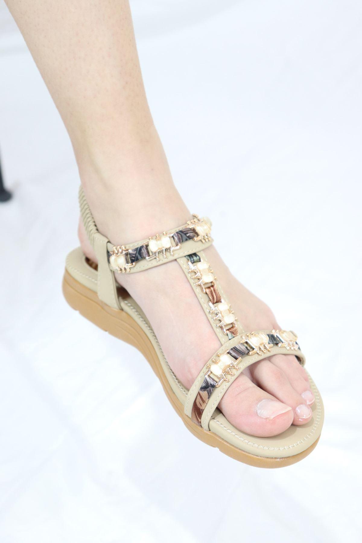 Guja - 21Y120-21 Bej Kadın Sandalet