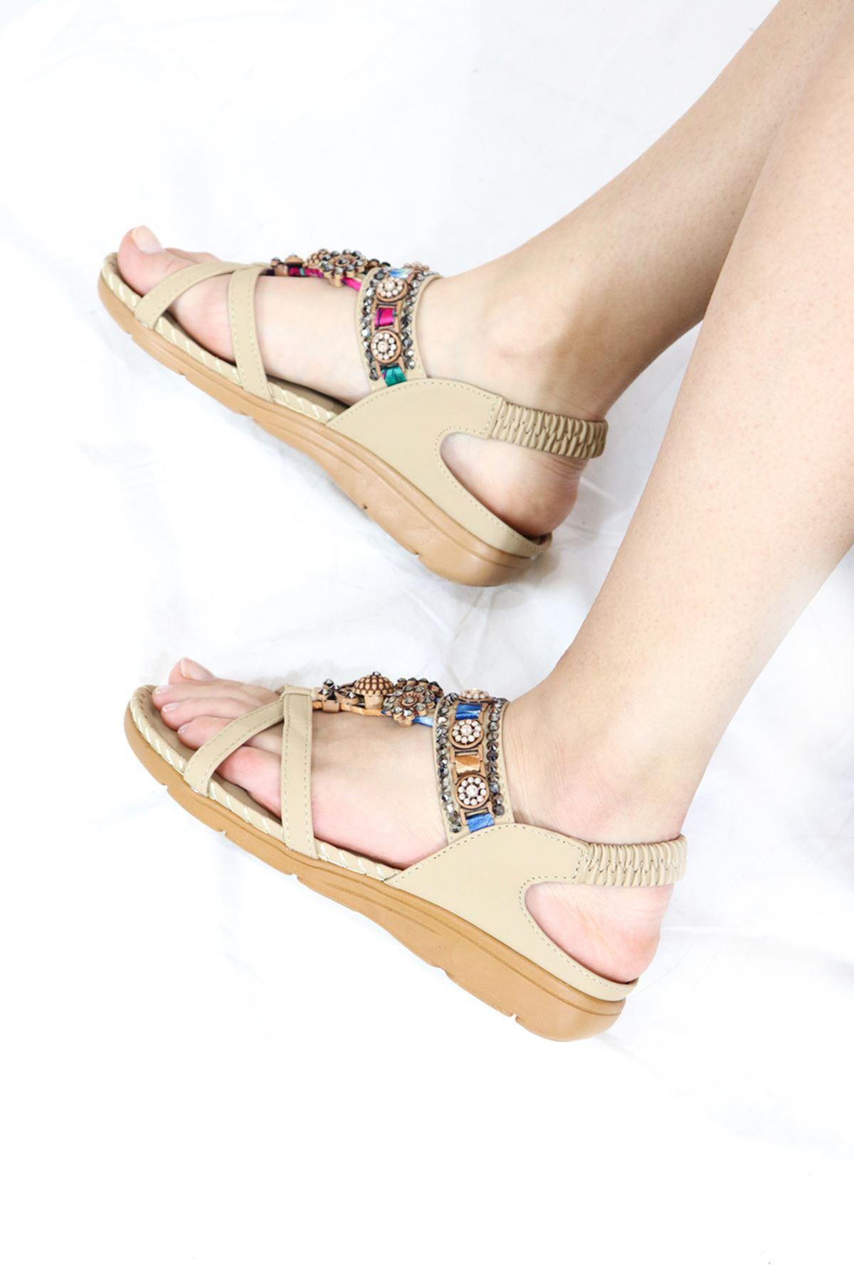 Guja - 21Y150-4 Bej Kadın Sandalet
