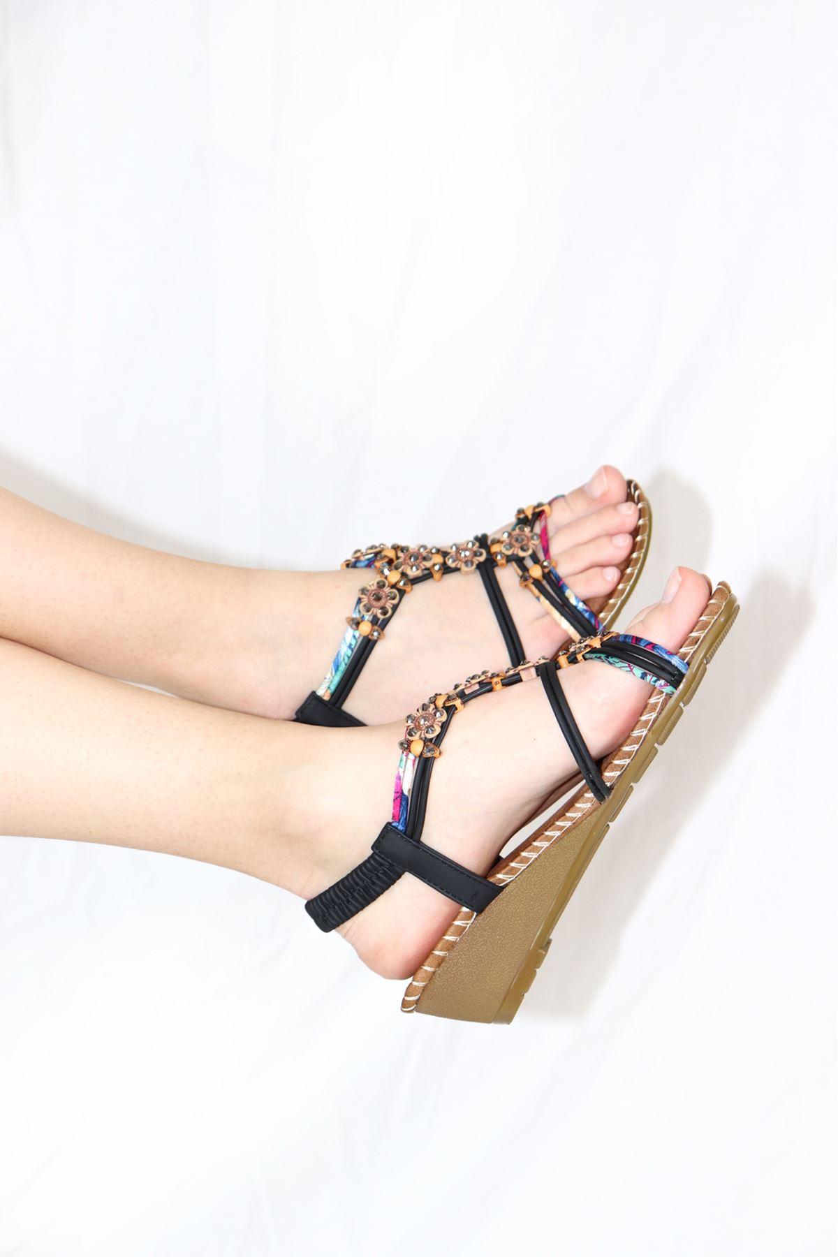 Guja - 21Y151-15 Siyah Kadın Sandalet