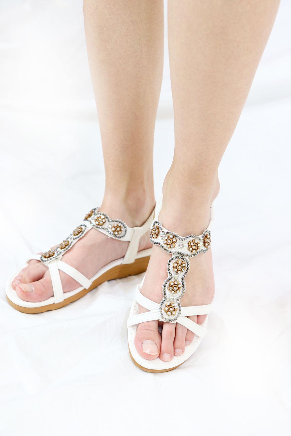 Guja - 21Y150-27 Beyaz Sandalet
