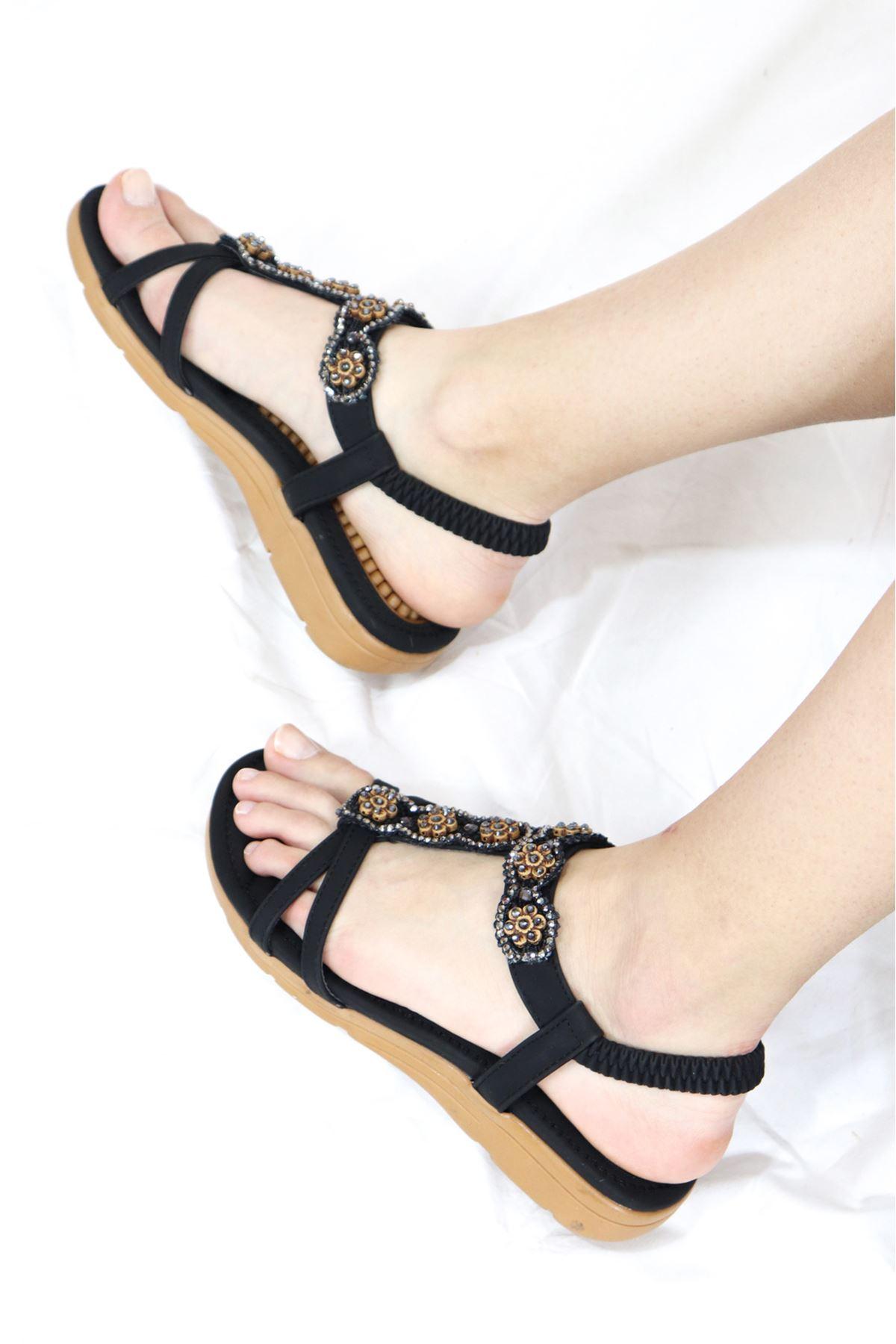 Guja - 21Y150-27 Siyah Kadın Sandalet