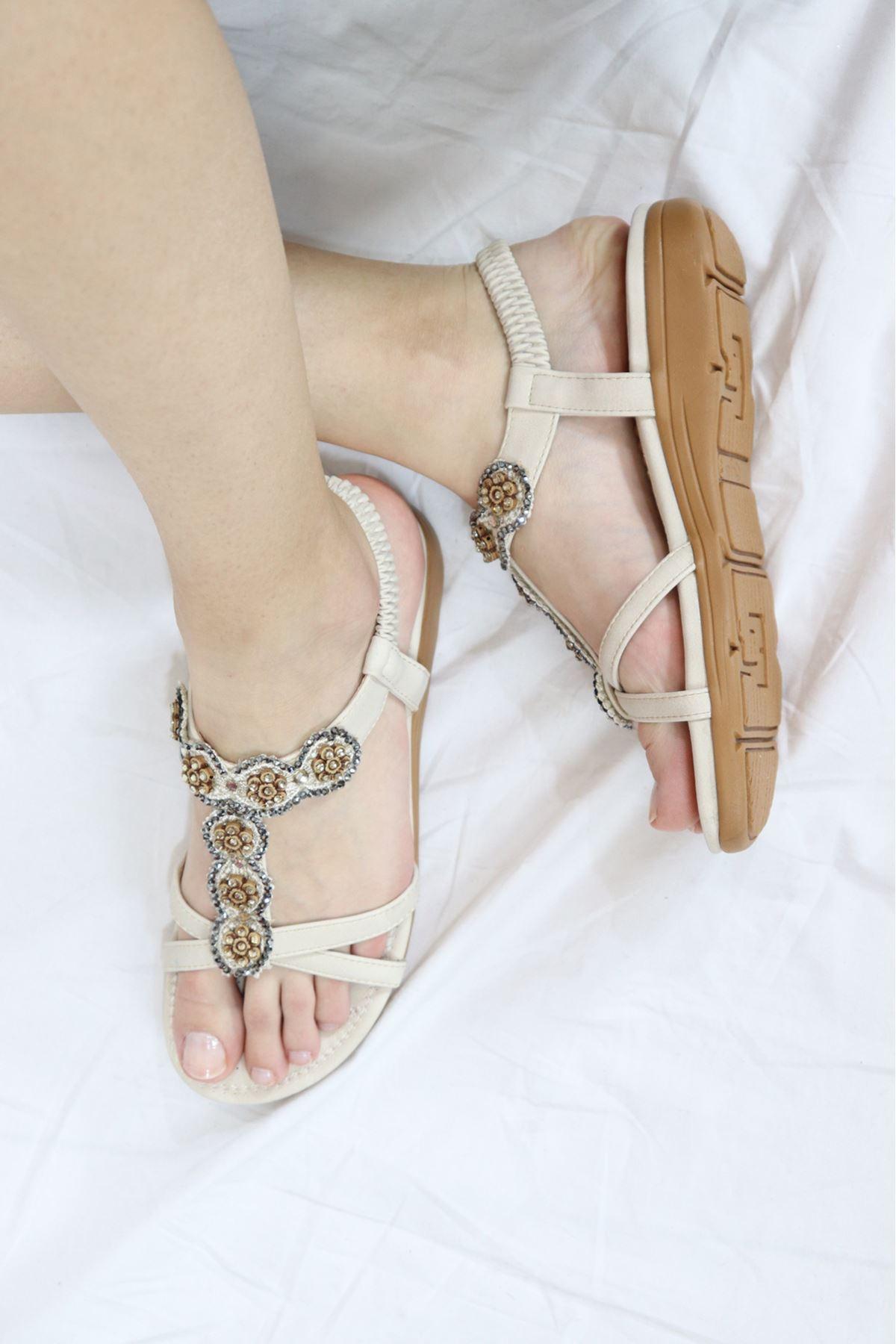 Guja - 21Y150-27 Bej Kadın Sandalet